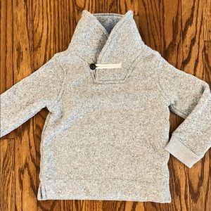 Marled Shawl Collar Sweatshirt